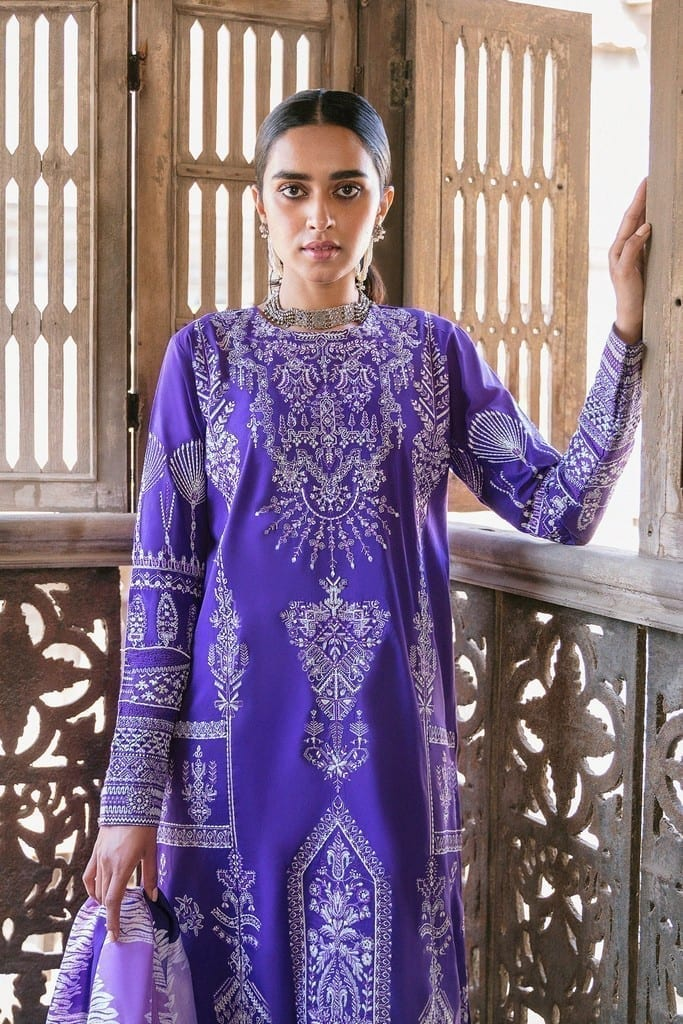ZAHA LAWN | Embroidered Lawn Suits | ZEBA (ZL21-05 A)