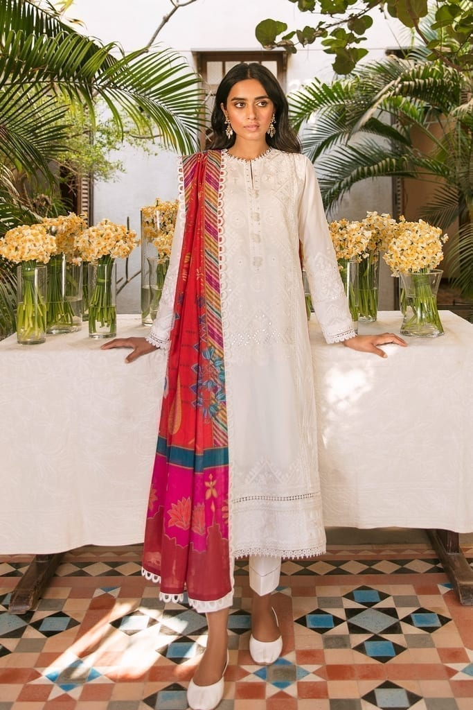 ZAHA LAWN | Embroidered Lawn Suits | GHERMEZ (ZL21-03 A)