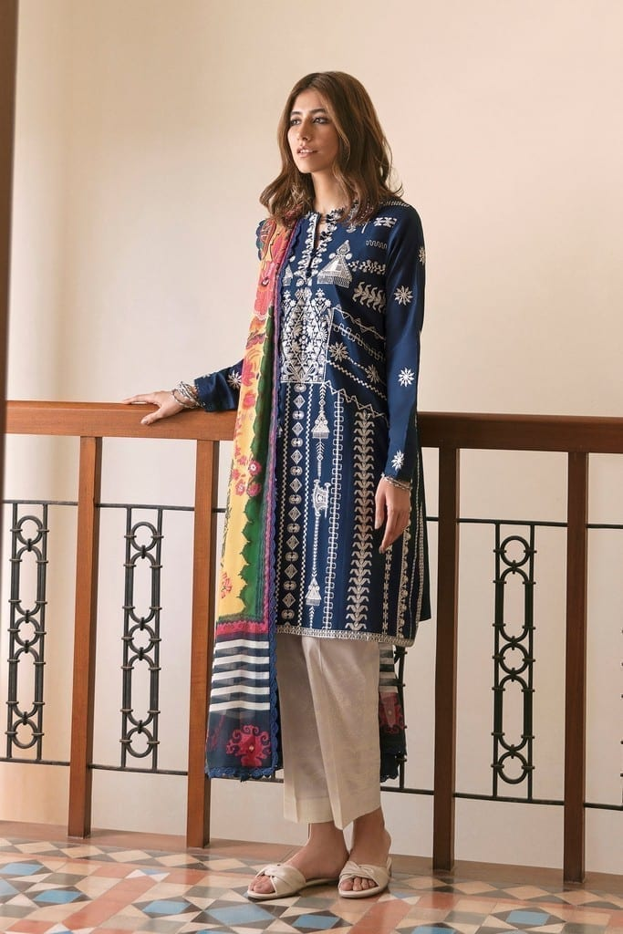 ZAHA LAWN | Embroidered Lawn Suits | NAHID (ZL21-10 A)