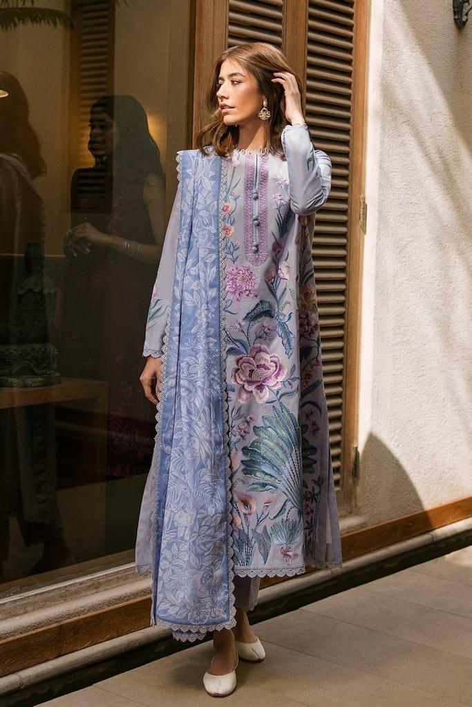 ZAHA LAWN   Embroidered Lawn Suits   ZASTAR (ZL21-09 B)