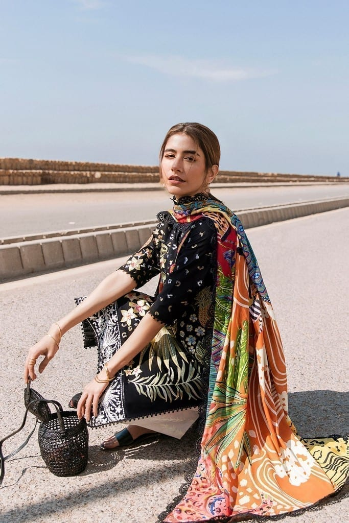 ZAHA LAWN | Embroidered Lawn Suits | VERD (ZL21-02 A)