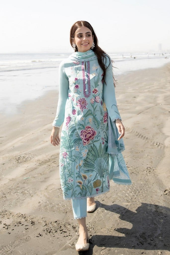 ZAHA LAWN | Embroidered Lawn Suits | ZASTAR (ZL21-09 A)