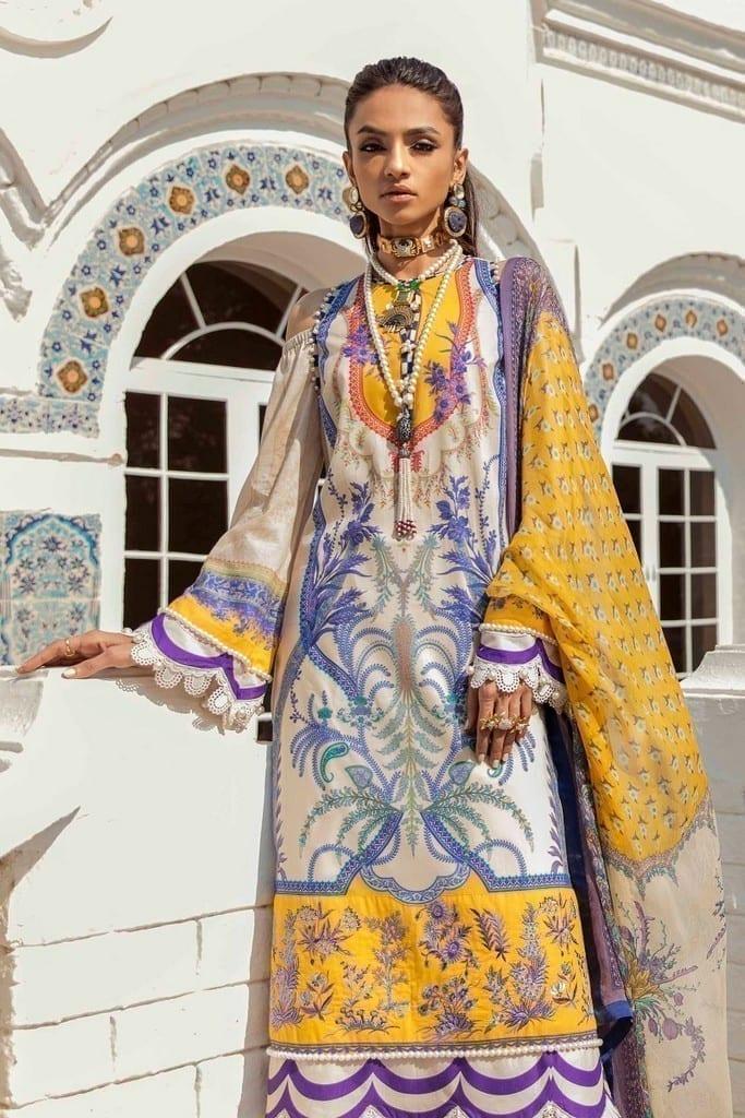 SANA SAFINAZ | MUZLIN SPRING'21 Collection | M211-016A-BI