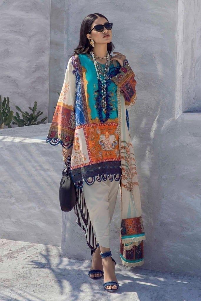 SANA SAFINAZ | MUZLIN SPRING'21 Collection | M211-018B-BI