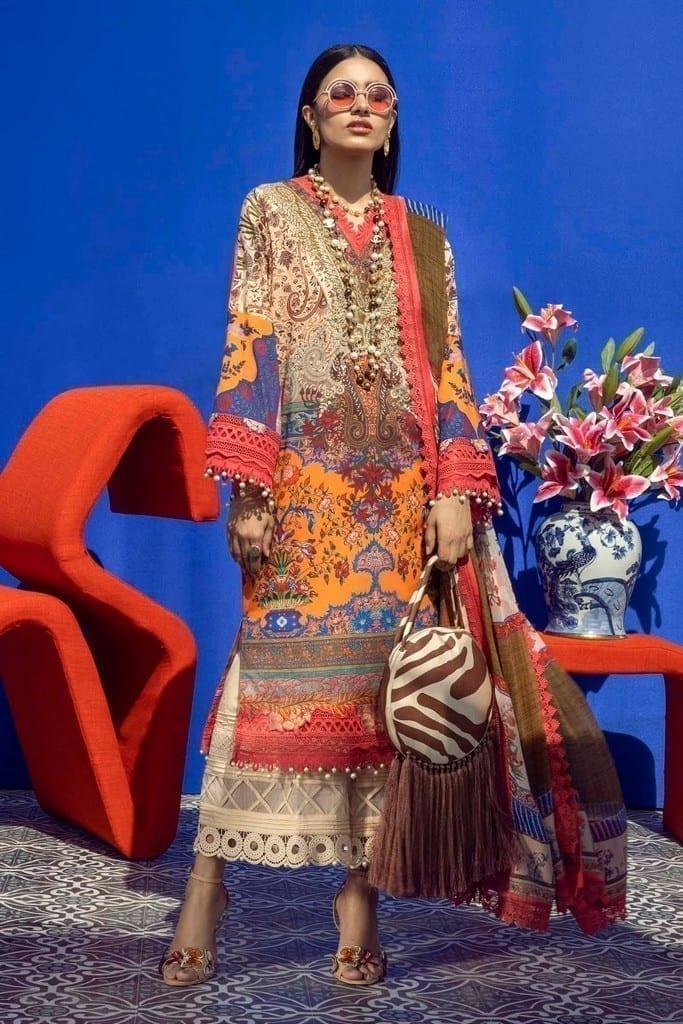 SANA SAFINAZ | MUZLIN SPRING'21 Collection | M211-021B-BI