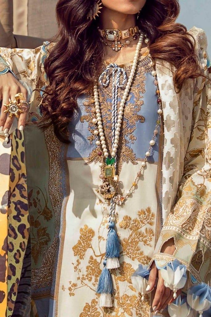SANA SAFINAZ | MUZLIN SPRING'21 Collection | M211-023B-CM