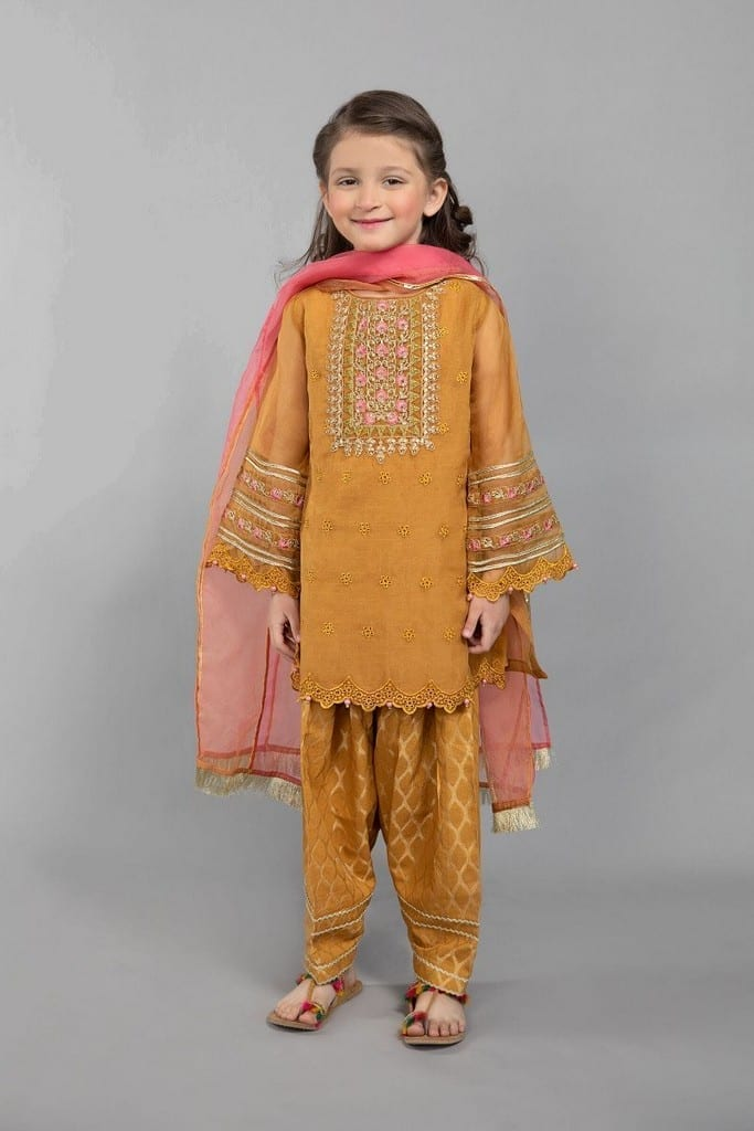 MARIA B | KIDS Collection | Suit Mustard MKS-SS21-02