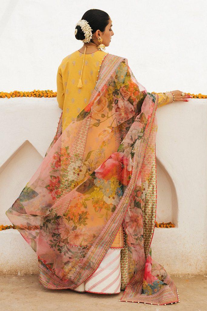 HUSSAIN REHAR | ROOHI DE NAAL Collection | Sapehar (Yellow)