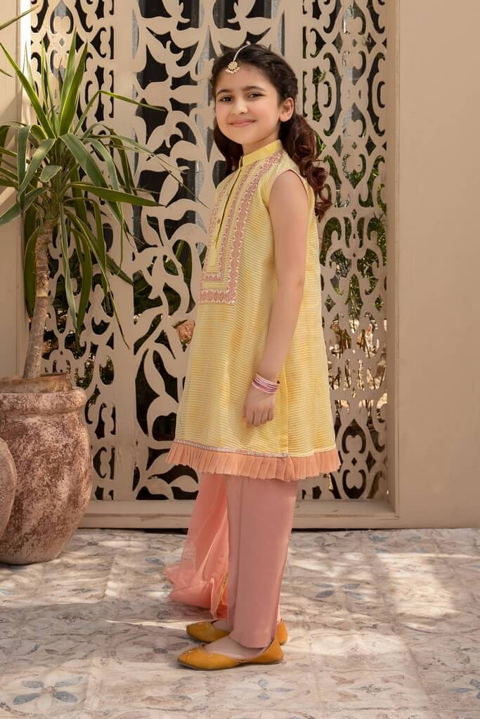 MARIA B | KIDS COLLECTION | Suit Yellow MKD-EA20-08