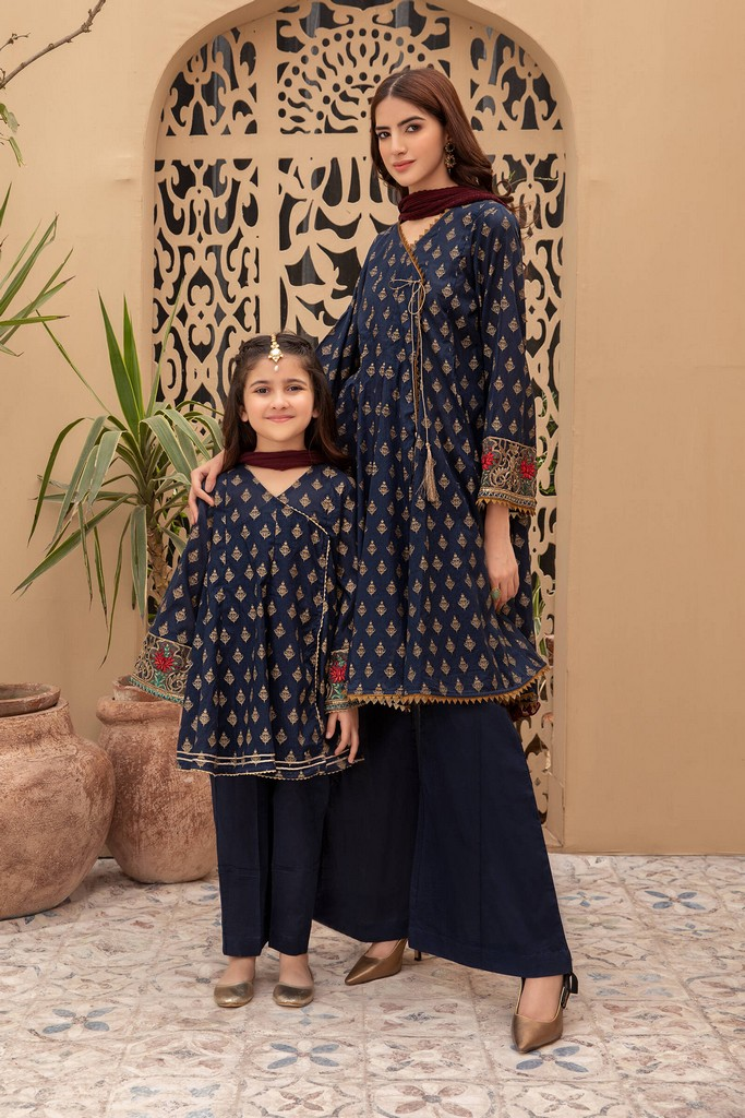 MARIA B   MOMMY N ME   READY TO WEAR   Suit Blue MKD-EF21-01