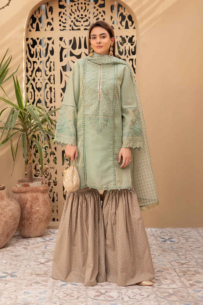 MARIA B | READY TO WEAR CASUAL | Suit Pista Green DW-EA20-03
