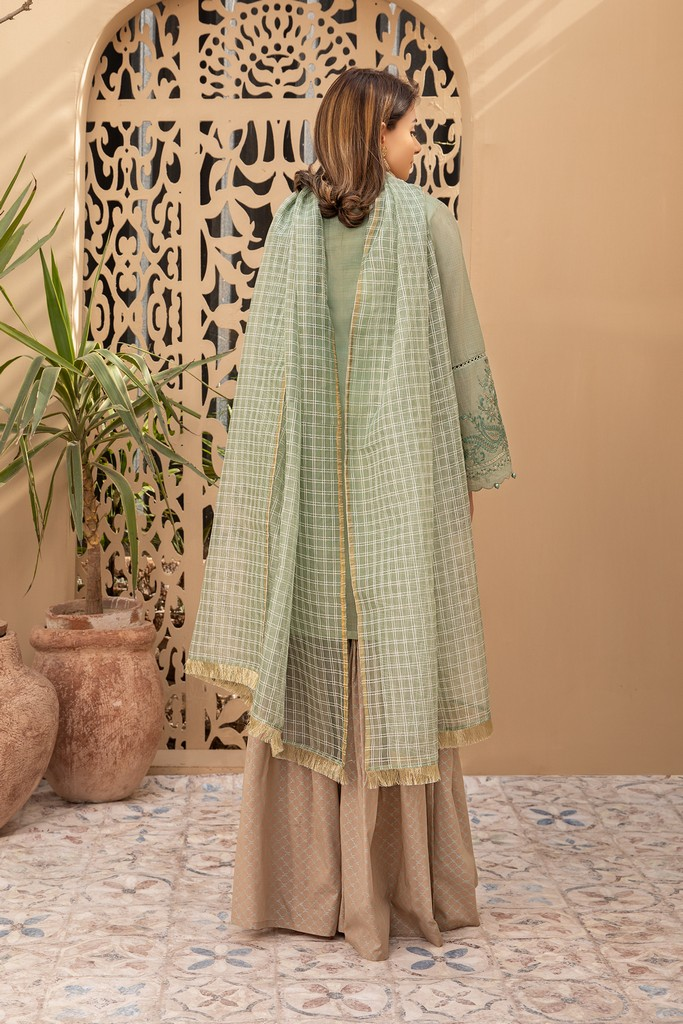 MARIA B   READY TO WEAR CASUAL   Suit Pista Green DW-EA20-03