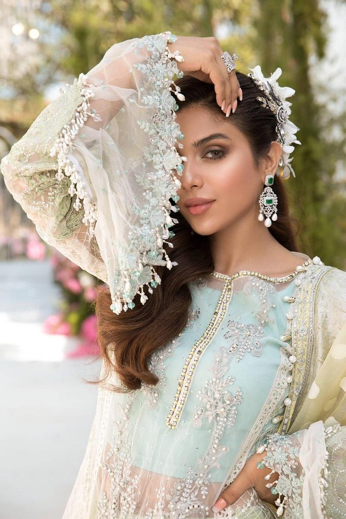 MARIA B | EMBROIDERED EID FESTIVE | Sky blue, Mint green and Lemon (BD-2102)