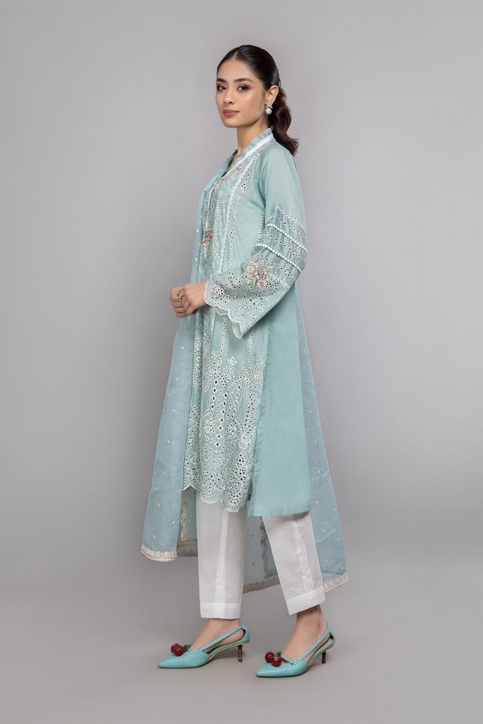 MARIA B | READY TO WEAR CASUAL | Suit Blue DW-EA20-19