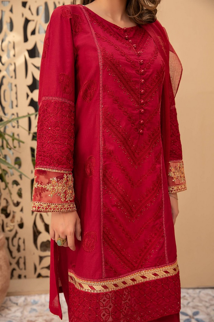 MARIA B | READY TO WEAR CASUAL | Suit Maroon DW-EF21-03