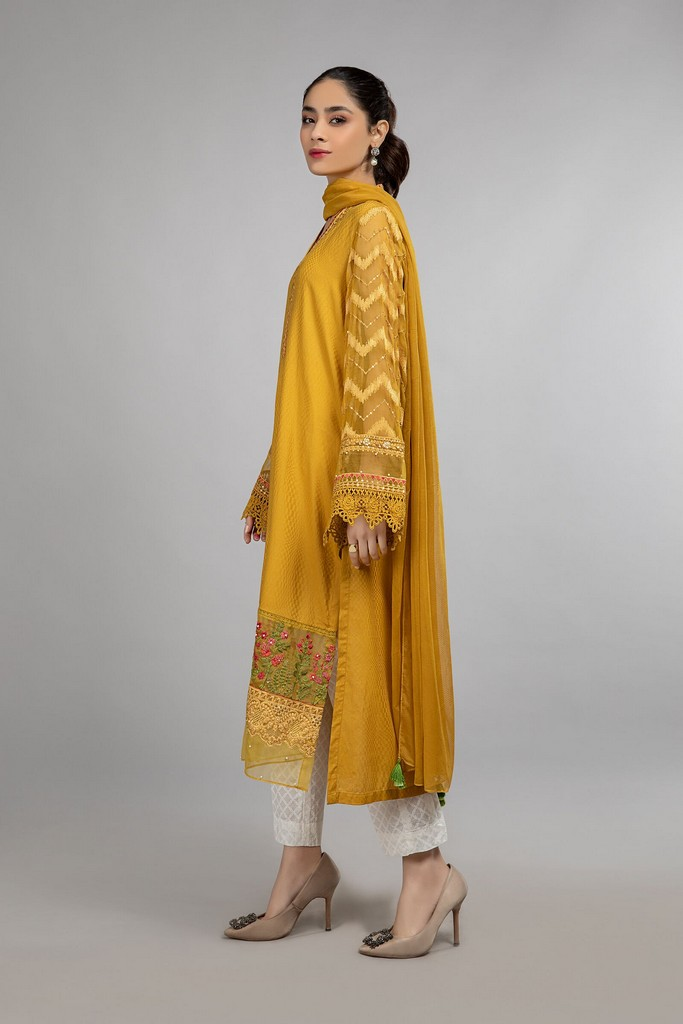 MARIA B | READY TO WEAR CASUAL | Suit Mustard DW-SS21-03