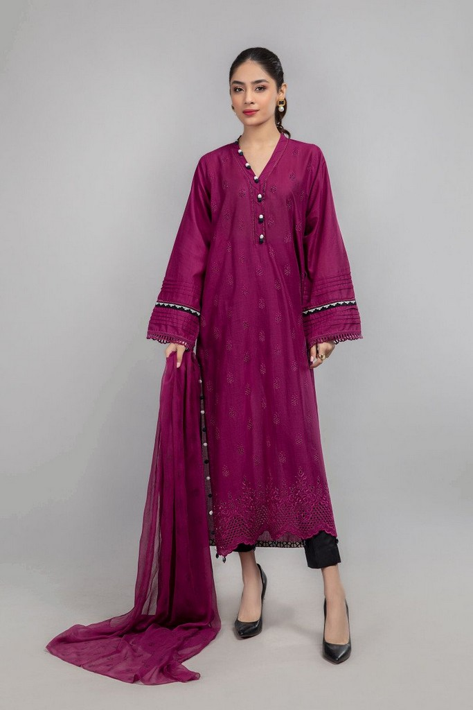 MARIA B | READY TO WEAR CASUAL | Suit Fuchsia Pink DW-SS21-08