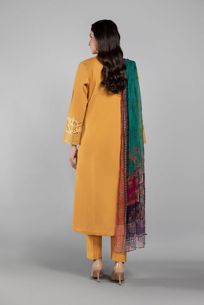 MARIA B | READY TO WEAR CASUAL | Suit Mustard DW-SS21-10