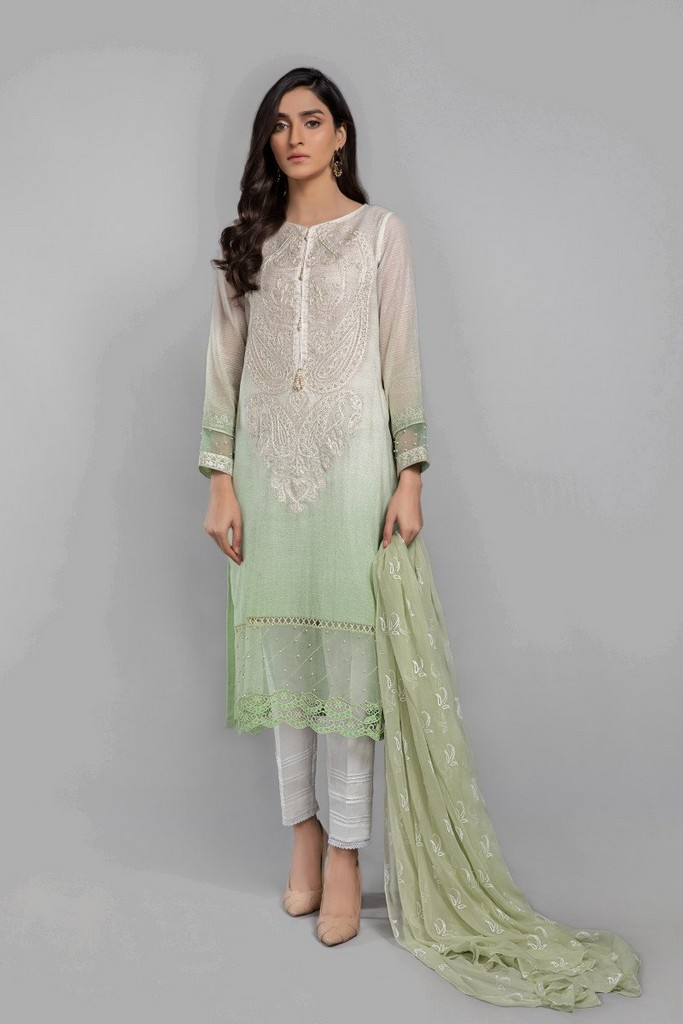 MARIA B | READY TO WEAR CASUAL  | Suit Green DW-SS21-11