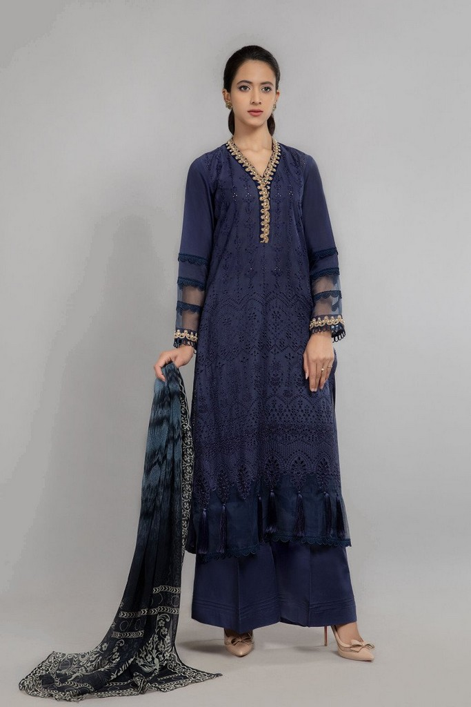 MARIA B | READY TO WEAR CASUAL  | Suit Blue DW-SS21-14