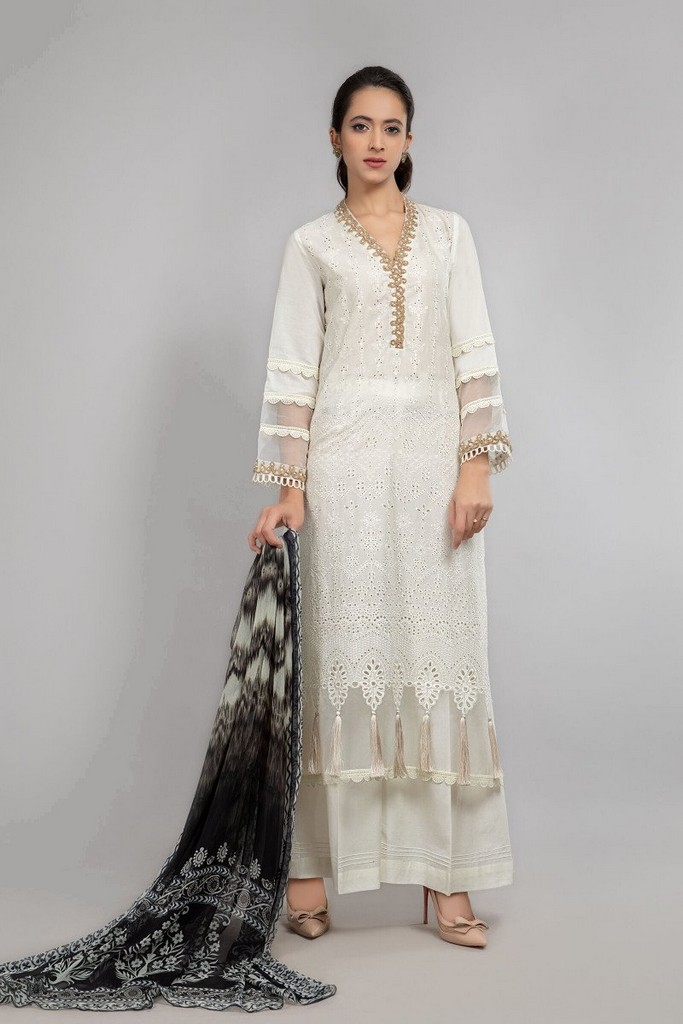 MARIA B | READY TO WEAR CASUAL | Suit Off White DW-SS21-14