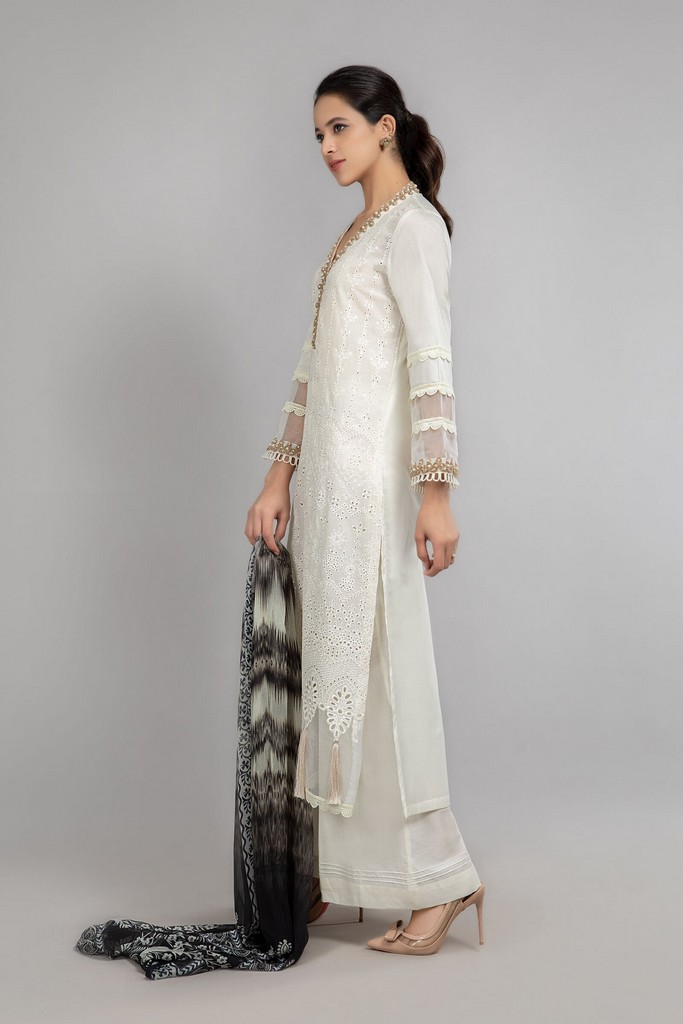 MARIA B   READY TO WEAR CASUAL   Suit Off White DW-SS21-14