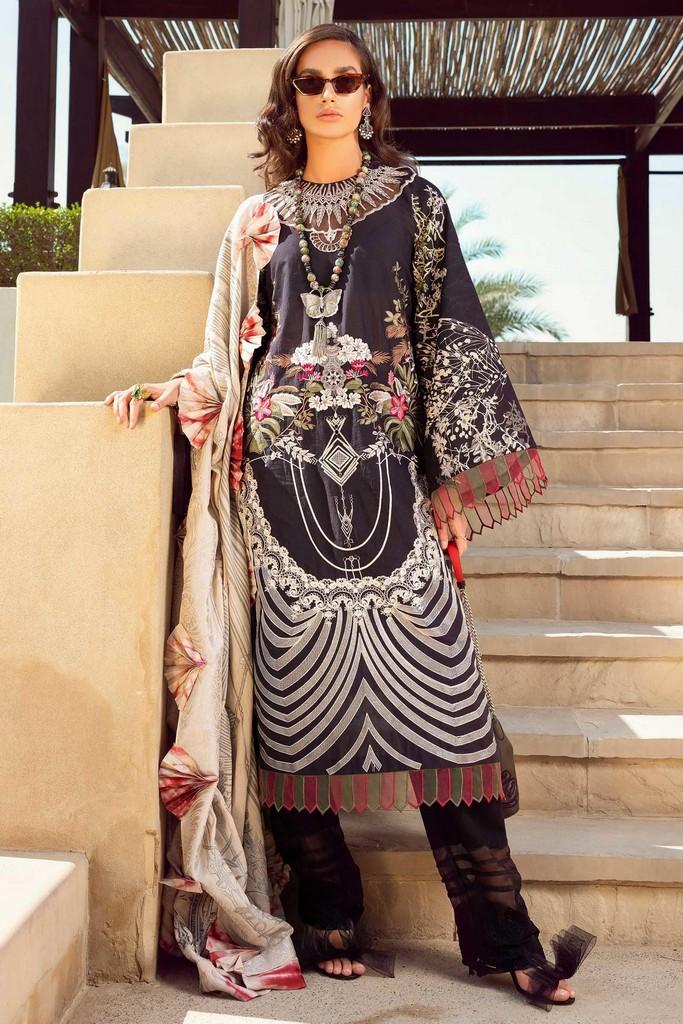 SHIZA HASSAN | LUXURY LAWN COLLECTION 2021 | 8-A MAAHRU