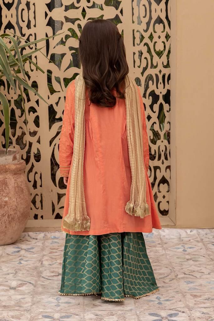 MARIA B   KIDS COLLECTION   Suit Orange MKD-EA20-13