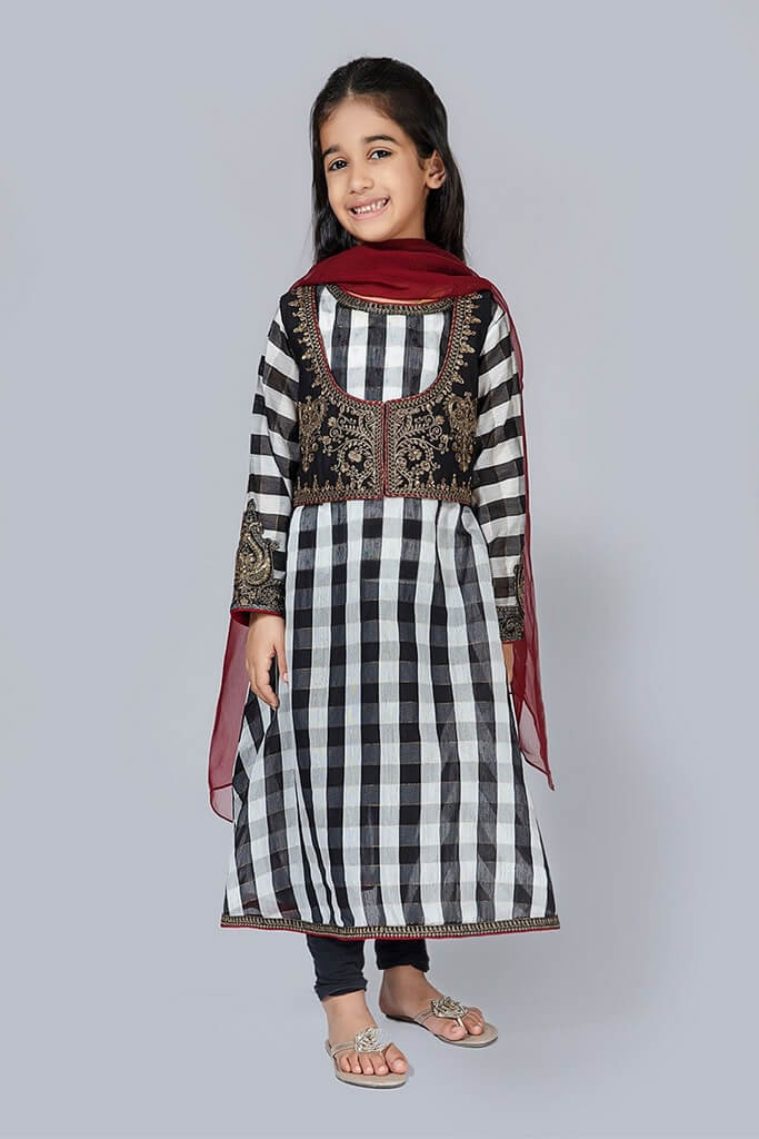 MARIA B   KIDS COLLECTION   Suit Black MKD-EF20-23