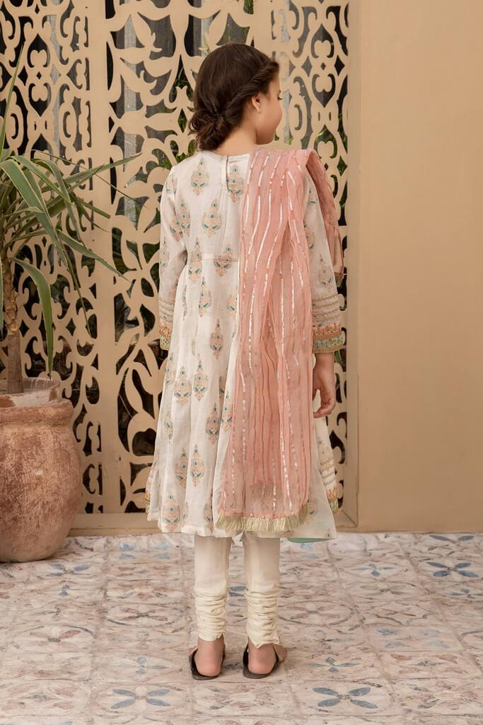 MARIA B   KIDS COLLECTION   Suit Off White MKD-EF21-02
