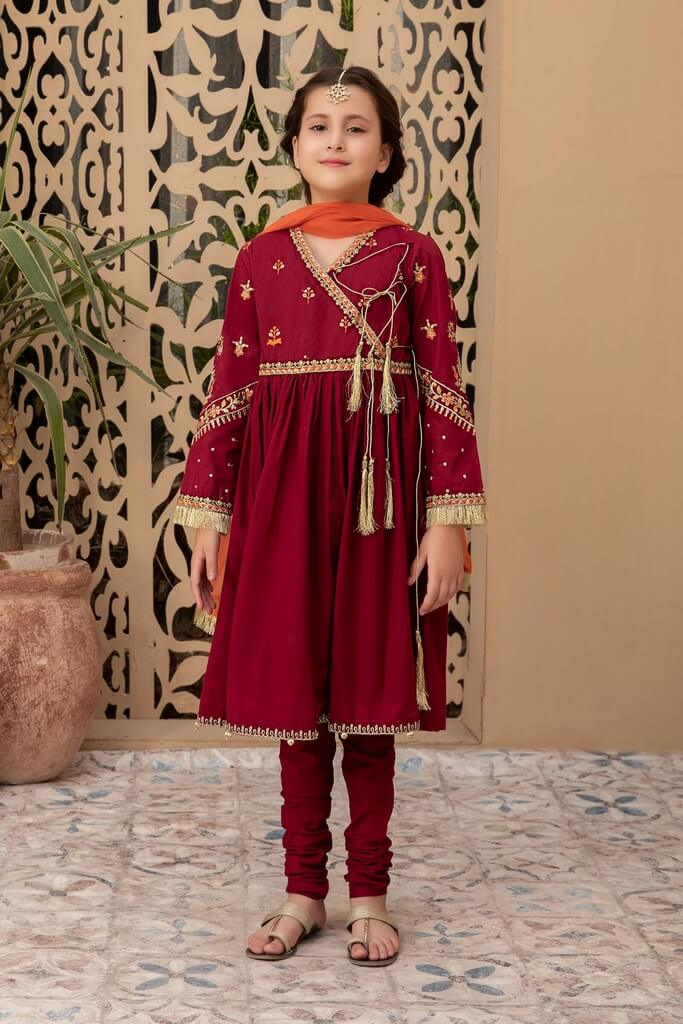 MARIA B | KIDS COLLECTION | Suit Maroon MKD-EF21-09