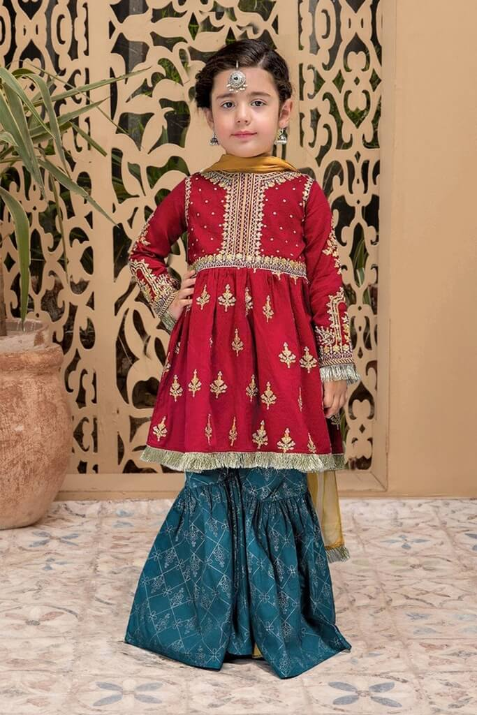 MARIA B | KIDS COLLECTION | Suit Mahroon MKD-EF21-28