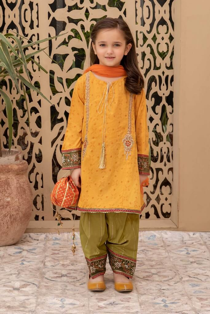 MARIA B | KIDS COLLECTION | Suit Mustard MKD-SS21-04