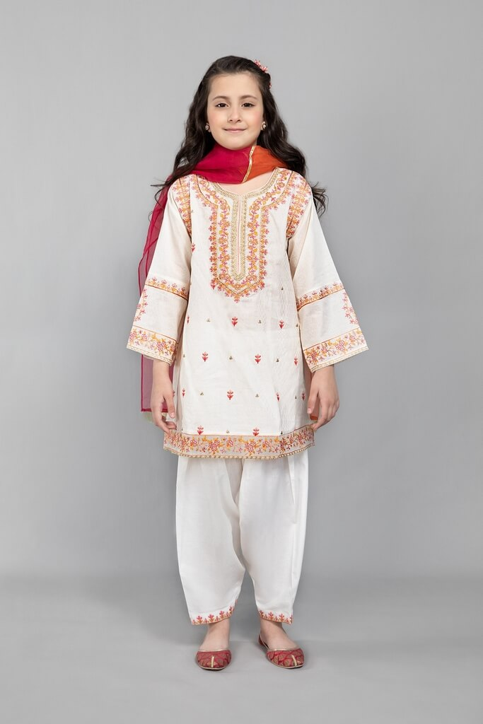MARIA B | KIDS COLLECTION | Suit Off White MKD-SS21-11