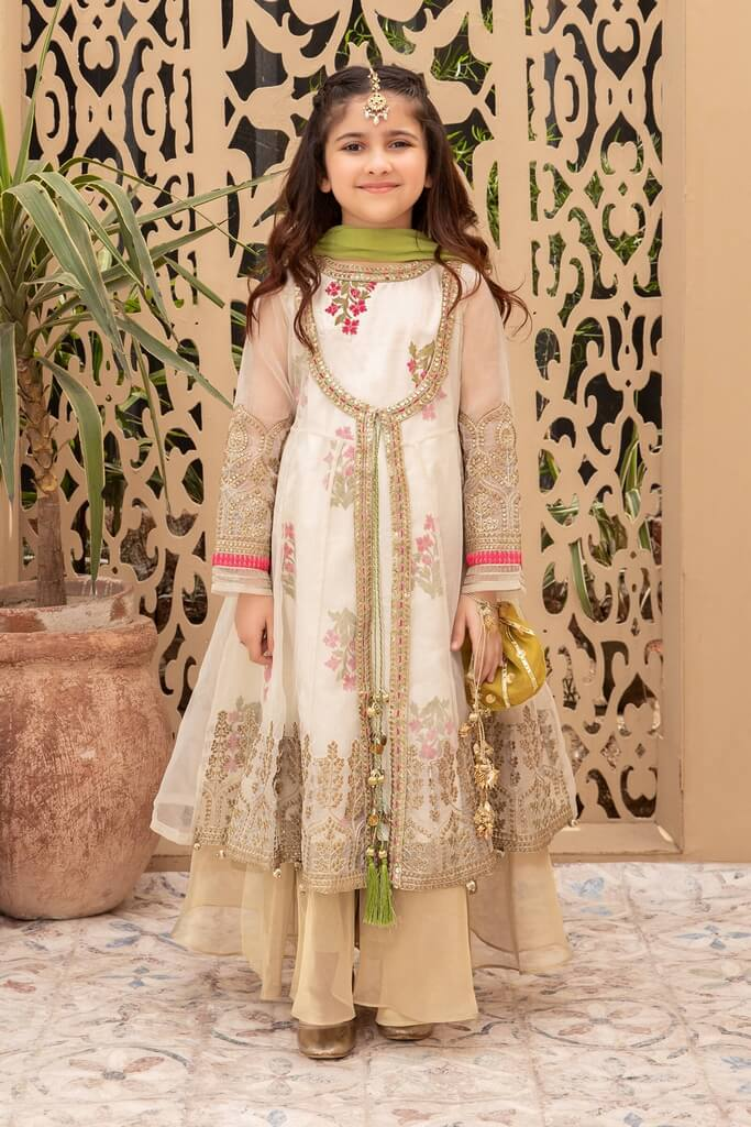 MARIA B | KIDS COLLECTION | Suit Off White MKS-EF21-09