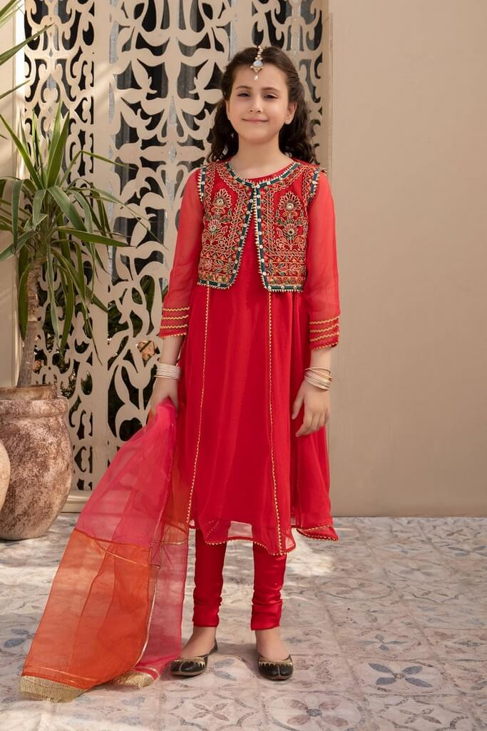 MARIA B | KIDS COLLECTION | Suit Red MKS-EF21-13