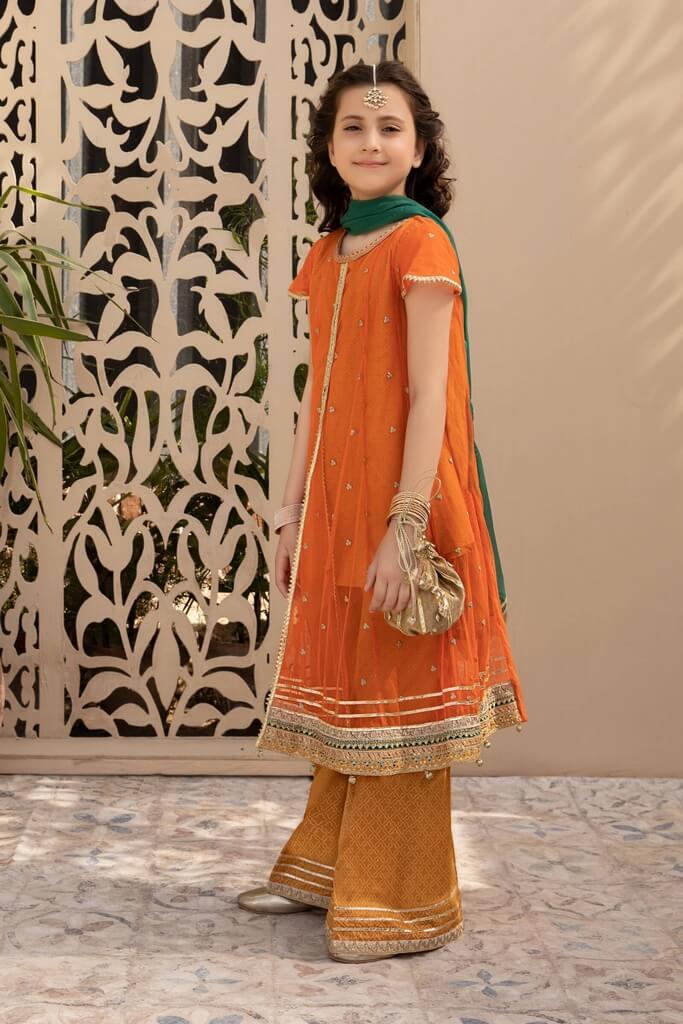 MARIA B   KIDS COLLECTION   Suit Orange MKS-EF21-17
