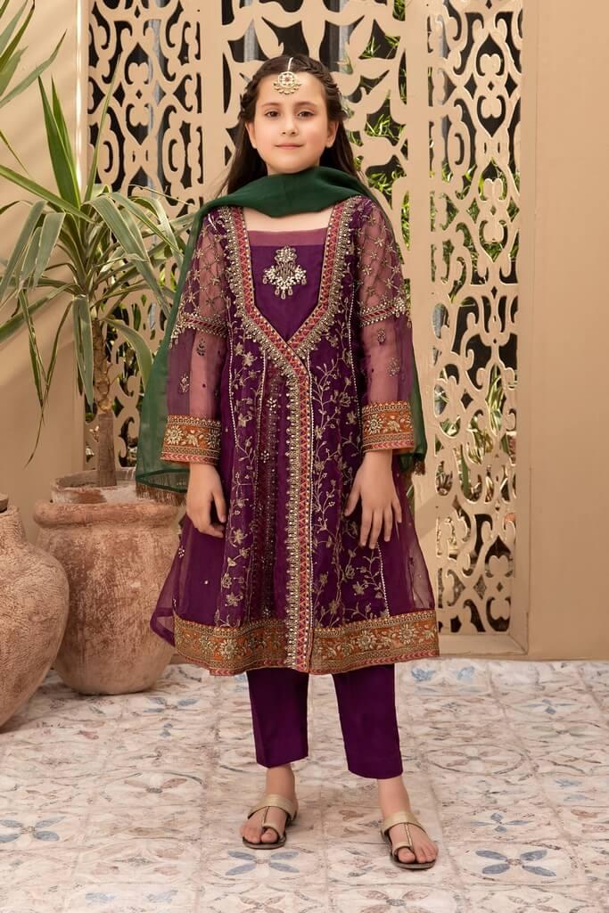 MARIA B   KIDS COLLECTION   Suit Purple MKS-EF21-26