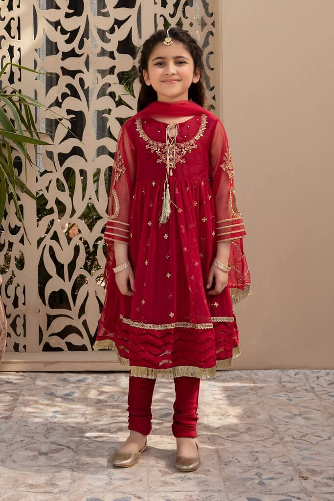 MARIA B | KIDS COLLECTION | Suit Red MKS-SS21-01