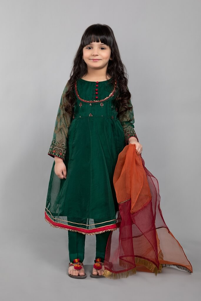 MARIA B | KIDS COLLECTION | Suit Bottle Green MKS-SS21-06