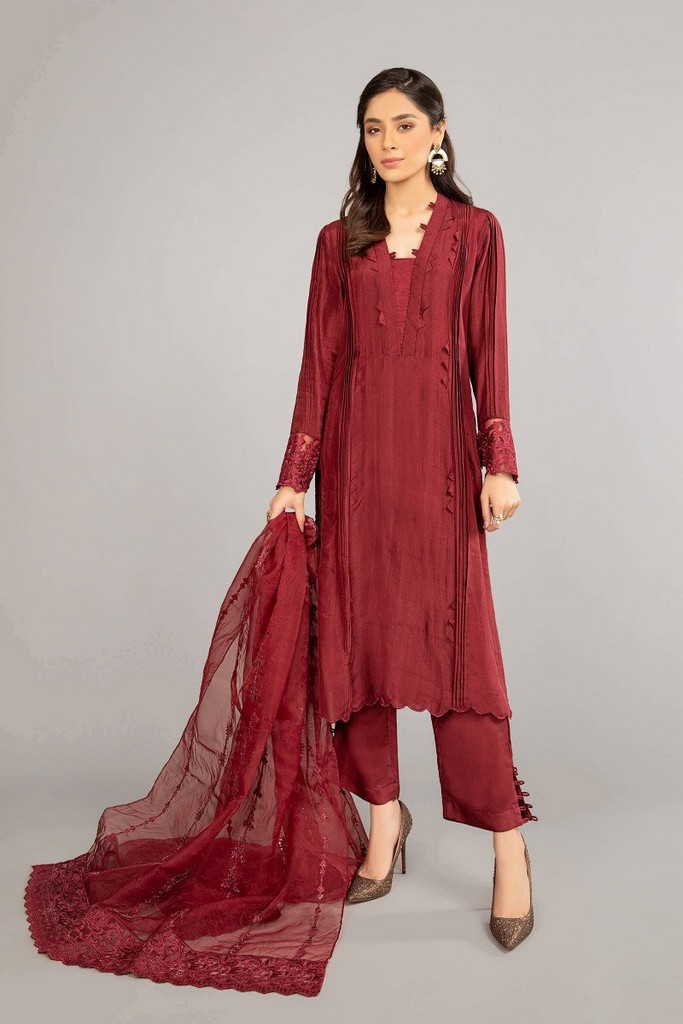MARIA B | READY TO WEAR CASUAL | Suit Maroon SF-EF21-06