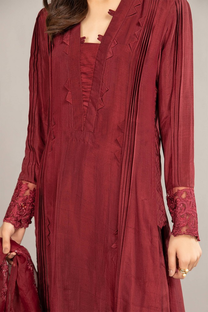 MARIA B   READY TO WEAR CASUAL   Suit Maroon SF-EF21-06