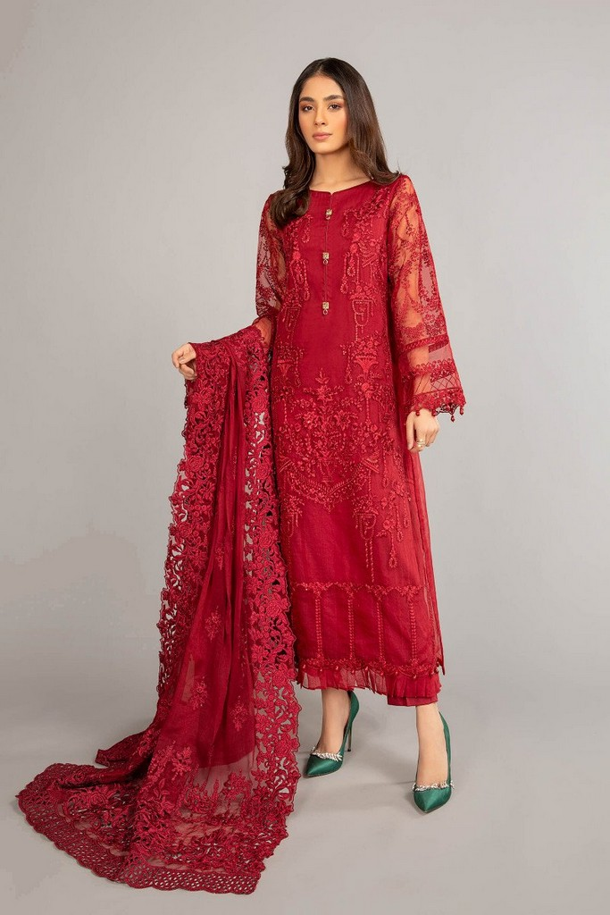 MARIA B | READY TO WEAR CASUAL | Suit Red SF-EF21-19