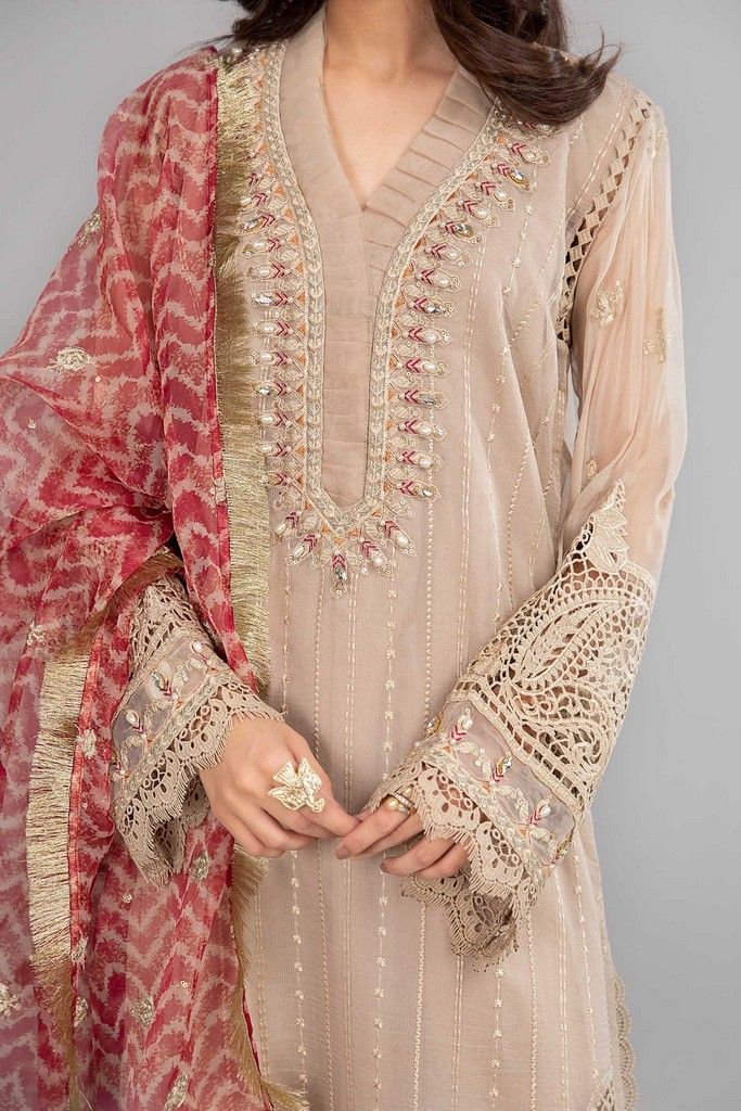 MARIA B | READY TO WEAR CASUAL | Suit Beige SF-SS21-08