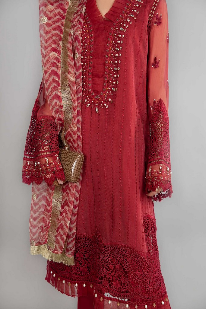 MARIA B | READY TO WEAR CASUAL | Suit Maroon SF-SS21-08