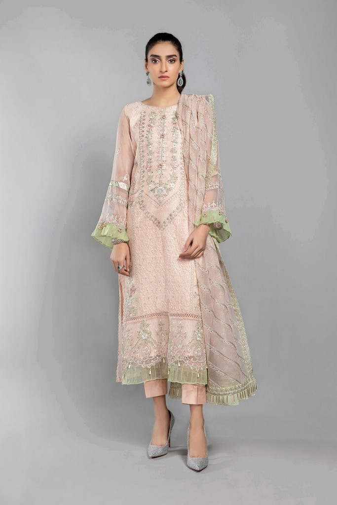 MARIA B | READY TO WEAR CASUAL  | Suit Ash Pink SF-SS21-10
