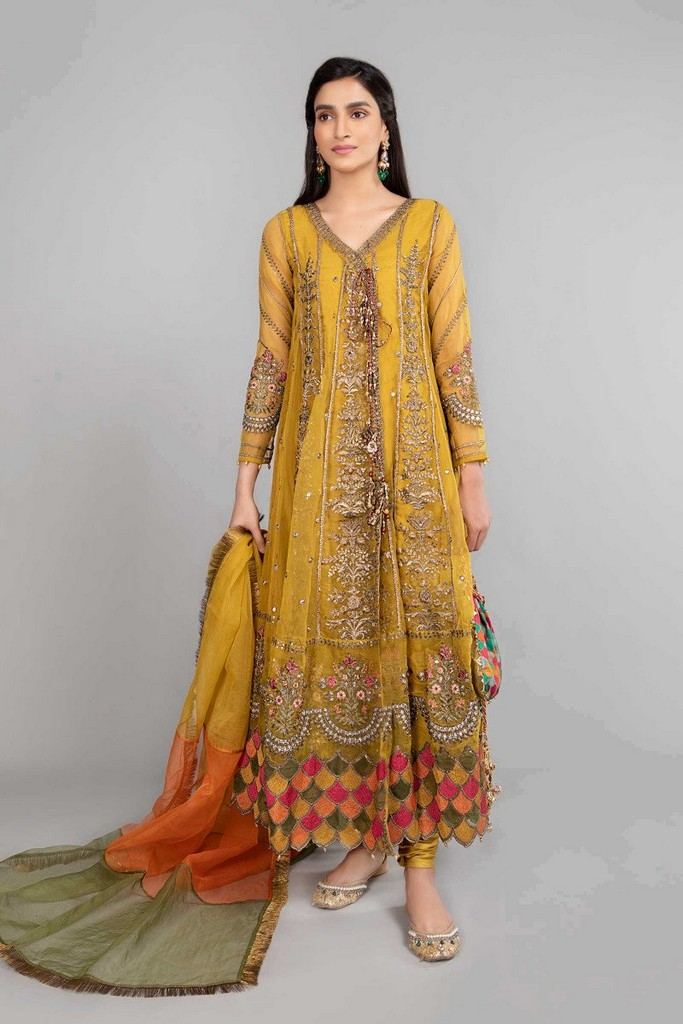 MARIA B   READY TO WEAR CASUAL   Suit Mustard SF-W20-21-A