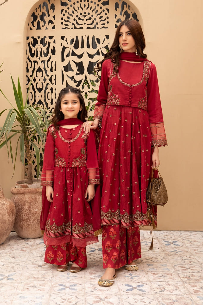 MARIA B   KIDS Collection   Suit Red MKD-EF21-27