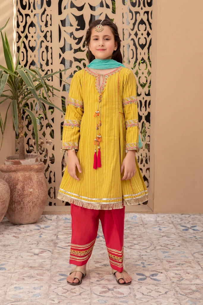 MARIA B | KIDS Collection | Suit lime Green MKD-EF21-08