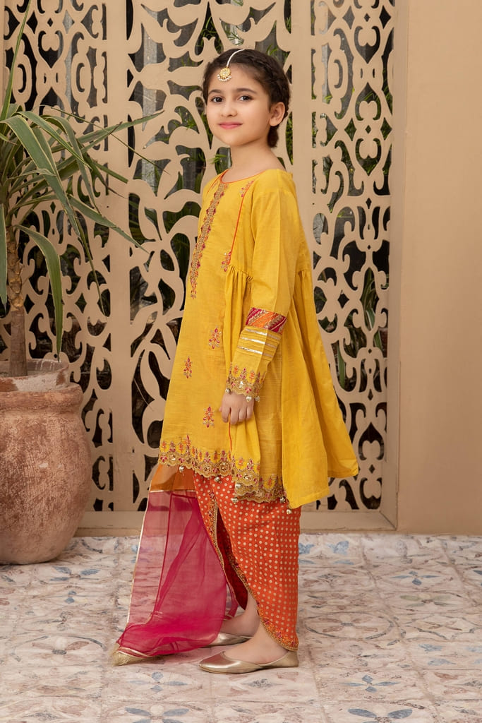 MARIA B | KIDS Collection | Suit Yellow MKD-EF21-16